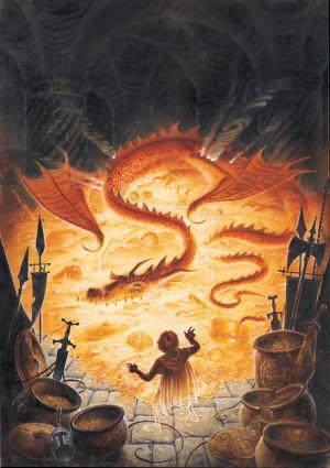 Smaug o Dourado foi o grande dragão da Terceira Era, sobrevivendo na ...