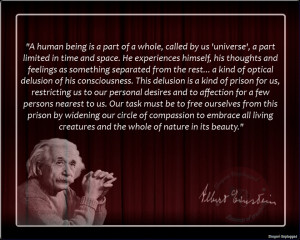 human being is a part of a whole