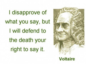 Free speech quotes voltaire