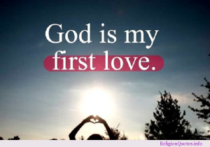 God-is-my-first-love