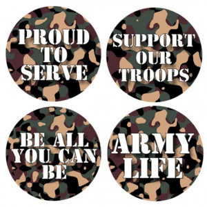 Support Our Troops and Other Army Sayings 1 Inch Pinback Button Badges ...