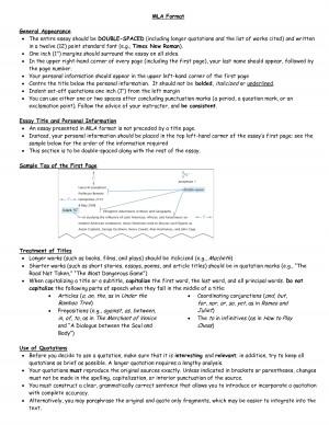 MLA Format Essay Quotes