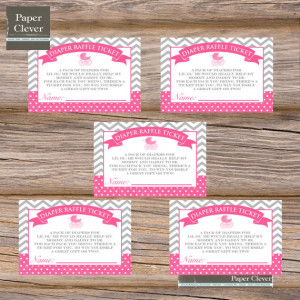 Baby Shower Diaper Raffle Tickets Printable