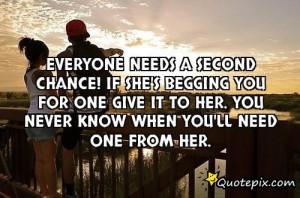 quotes about second chances