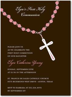 1st communion invitations announcements more 1st communion communion ...