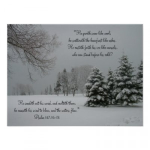 winter landscape scripture