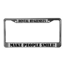 Dental Hygienist Quote License Frame for