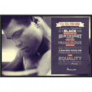 Muhammad Ali Quotes 24x36 Framed Poster Art Print