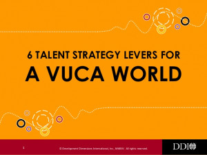 Talent Strategy Levers for a VUCA World