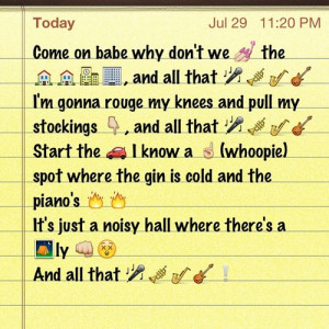 Iphone Emoji Song Lyrics Image