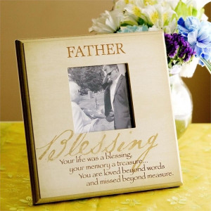 Loss of Father Sympathy Remembrance Frame