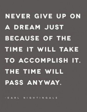 ... take to accomplish it. The time will pass anyway. – Earl Nightingale