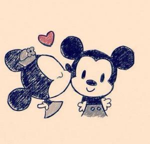 couple, cute, disney, love, mickey mouse, minnie and mickey, minnie ...