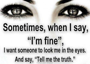 ... ve fallen victim to the i m fine syndrome more times than i