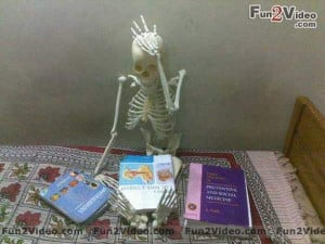 Watch this funny picture of mbbs student who converted to skeleton ...