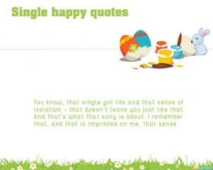 Single Happy Quotes Wallpapers