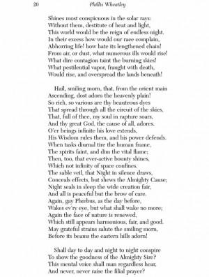 phyllis wheatley poem 2