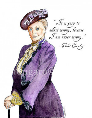 Watercolor print of Violet Crawley from Downton by marleyungaro, $12 ...