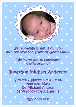 Baptism Photo Religious Invitations for Boy areBecoming Very Popular!