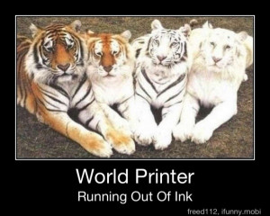 ... world printer running out of ink funny tiger picture photo caption