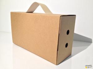 valigetta in cartone cardboard box w handle