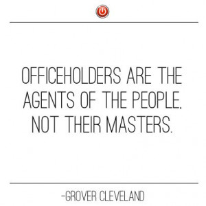 Inspirational Quote from Grover Cleveland
