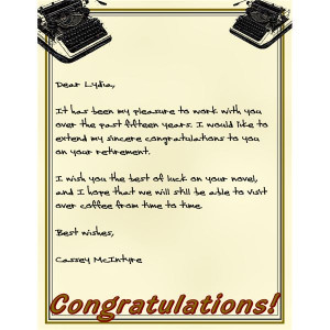 ... stationary is a fun way to commemorate a special person's retirement