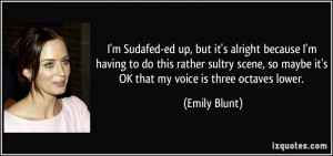 More Emily Blunt Quotes
