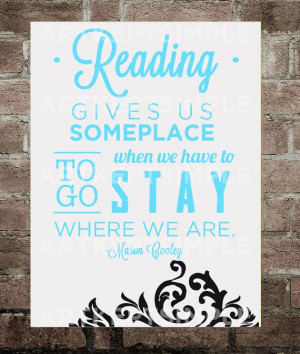 INSTANT DOWNLOAD Mason Cooley Reading Quote by artkeptsimple