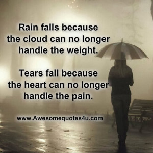 Rain falls because