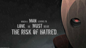 Tags: Anime, NARUTO, Uchiha Obito, Tobi, Widescreen 16:9 Ratio, Quote ...