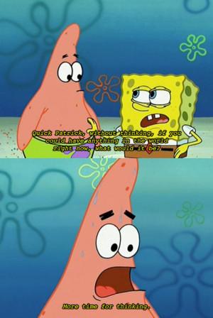 cartoon, funny, haha, patrick, smart, spongebob squarepants