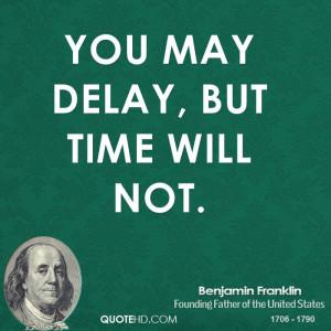 Benjamin Franklin Time Quotes