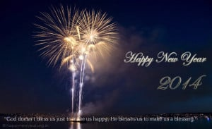 Happy New Year Blessings Quotes 2014