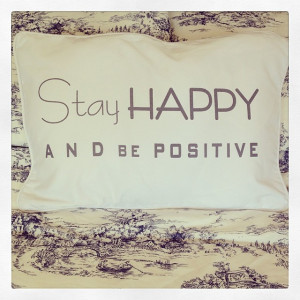 Happy Quote Cushion Cover- Stay Happy & Be Positive
