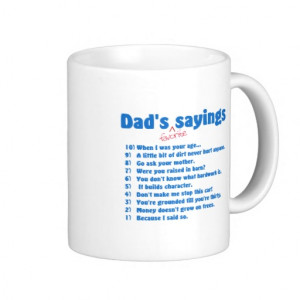 Dads favorite sayings mug
