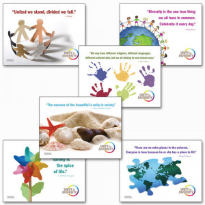 ... in Diversity - Set of 6 Guidance Posters with Inspirational Quotes