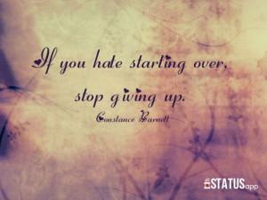 Words of wisdom from one of my best friends...Constance Barnett