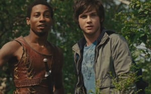 Brandon T. Jackson and Logan Lerman in Percy Jackson & the Lightning ...