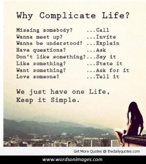 life is complicated quotes