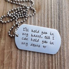 Custom dog tag hand stamped stainless steel military dog tag gift for ...