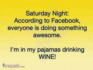 Saturday Night and Wine #Pinning
