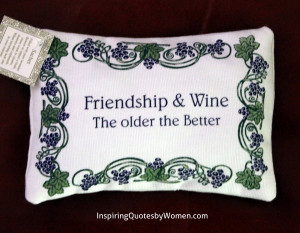 "Home / Lavender Sachets / Lavender Sachet – ""Friendship & Wine ..."