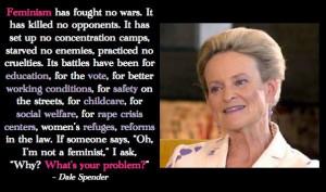 Anti Feminist Quotes Feminism promotes equality.