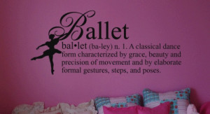 5pcs/lot Wall Sticker Decal Quote Vinyl Ballet Definition Girls Dance ...
