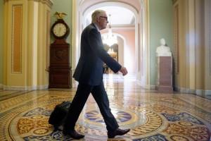 Senate Minority Leader Sen. Harry Reid of Nev. arrives at the Capitol ...