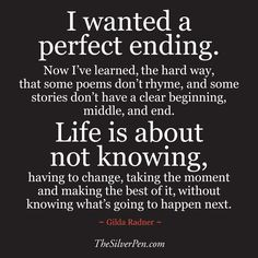 Wanted a Perfect Ending Quote - Inspirational Images & Motivational ...