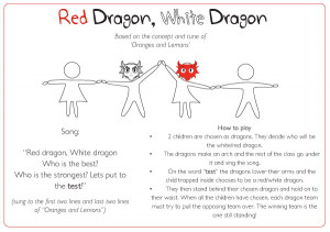 Red Dragon, White Dragon Game Idea | Free EYFS & KS1 Resources
