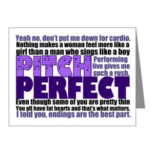... You Cards & Note Cards > Pitch Perfect Quotes Note Cards (Pk of 10