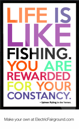 Salmon Fishing in the Yemen. Framed Quote